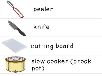 Visual Recipe for the Special Ed Classroom - Slow Cooker Mashed Potatoes