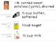 Visual Recipe for the Special Ed Classroom - Sweet Potato Pie