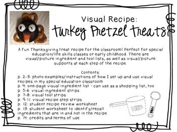 Visual Recipe for the Special Ed Classroom - Turkey Pretzel Treats