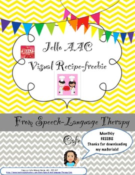 Visual Recipe with AAC support: Making Jello