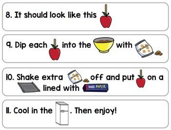 Visual Recipes: Caramel Apples {Autism} {Fall} {Cooking} {Life Skills}