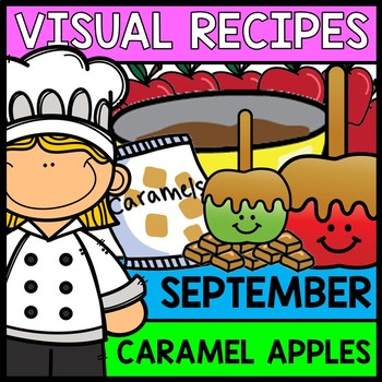 Visual Recipes: Caramel Apples {Autism} {Fall} {Cooking} {