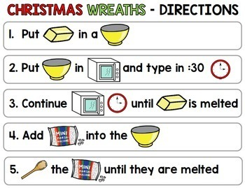 Visual Recipes: Christmas Wreaths {Autism} {December} {Cooking} {Life Skills}