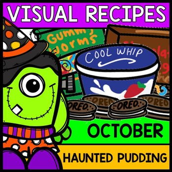 Visual Recipes: Haunted Pudding Cup {Autism} {Halloween} {Cooking} {Life Skills}
