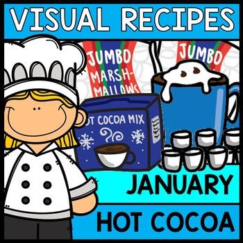 Visual Recipes: Hot Cocoa {Autism} {January} {Cooking} {Life Skills}