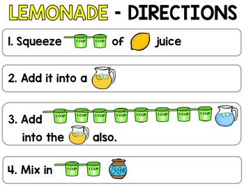 Visual Recipes: Lemonade  {Autism} {Summer} {Cooking} {Life Skills}