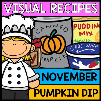 Visual Recipes: Pumpkin Dip {Autism} {Fall} {Cooking} {Lif