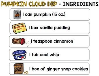 Visual Recipes: Pumpkin Dip {Autism} {Fall} {Cooking} {Life Skills}