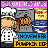 Visual Recipes: Pumpkin Dip {Autism} {Fall} {Cooking} {Lif