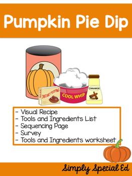 Visual Recipes: Pumpkin Pie Dip Freebie