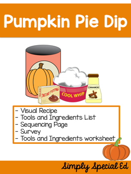 Visual Recipes: Pumpkin Pie Dip Freebie