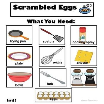 Visual Recipes for Breakfast: Scrambled Eggs