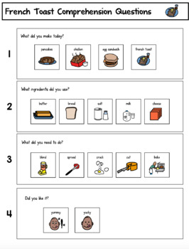 Visual Recipes for Children with Autism: French Toast and Caramel Apples!