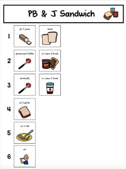 Visual Recipes For Children With Autism Pb Amp J And Mini