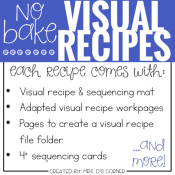 Visual Recipes with REAL Pictures - January ( for special education )