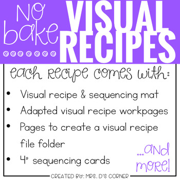 Visual Recipes with REAL pictures - April ( for special education )
