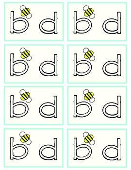 Visual Reminder: B and D
