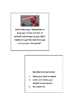 Visual Reminder - Behavior