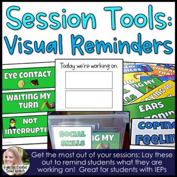 Visual Reminder Task Cards for IEP & Regular Education Students