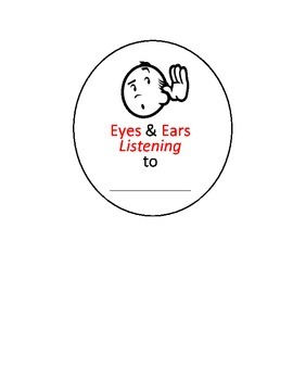 Eyes & Ears Listening Visual Aid