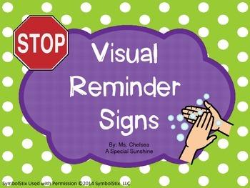 Visual Reminder Signs
