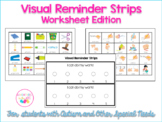 Visual Reminder Strips - Worksheet Edition