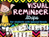 Visual Reminder Strips - for students with Special Needs