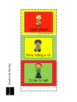 Visual Reminder Tent: talking and attention