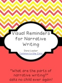 Visual Reminders for Narrative Writing