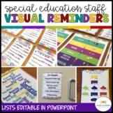 Visual Reminders for Special Education Classroom Staff*Autism*LifeSkills