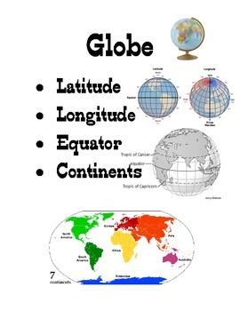 Visual Resource - Globe Vocabulary Classroom Label ESL