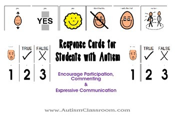 Visual Response Cards for Students with Autism and Special Needs