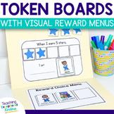 Visual Reward Choice Menu Token Board and Behavior Charts