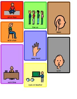 Speech therapy: Visual Ring - Supports for the Classroom