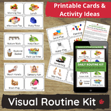 Visual Routine Cards for Sequencing, Transitions, Communic