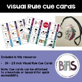 Visual Rule Cue Cards - Keychain or Lanyard Size for Speci