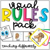 Visual Rules Pack (Desk Strips, Visual Lanyard, Class Rules)