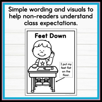 Visual Rules Coloring Pages for Early Childhood and Special Education