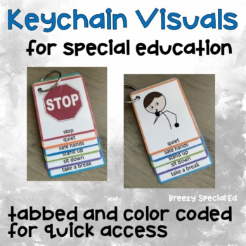 Visual Rules Keychain / Lanyard for Special Education