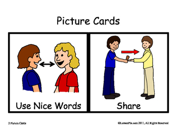 Visual Rules for Special Education/Kindergarten Classroom