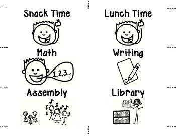 Visual Schedule (English)