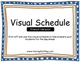 Visual Schedule (French)