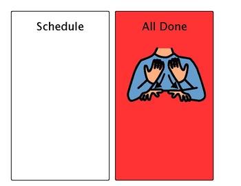 Visual Schedule Background
