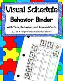 Visual Schedule Behavior Binders with Task and Reward Cards