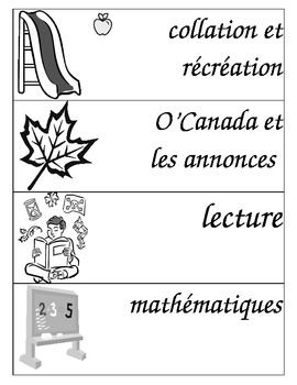 Visual Schedule - Black and White - French