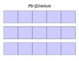 Visual Schedule - Blonde Girl