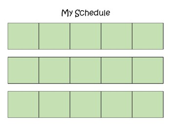 Visual Schedule - Boy of Colour