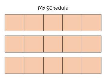 Visual Schedule - Brunette Boy