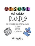 Visual Schedule Bundle: Morning, Evening, & On-the-Go Autism Resource