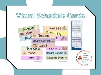 Visual Schedule Cards